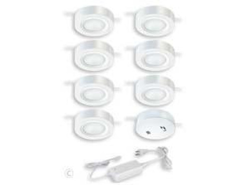 Dual Mount Instalux LED Under Cabinet Puck Light 7-Pack Kit White-X0059 by Vaxcel Lighting