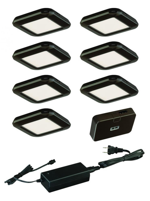 Low Profile Instalux LED Under Cabinet Puck Light 7-Pack Kit Bronze-X0034 by Vaxcel Lighting