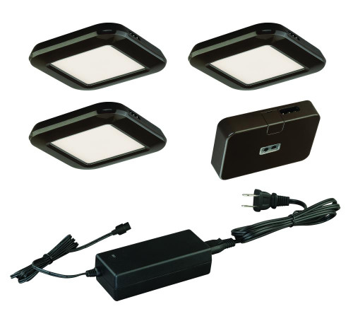 Low Profile Instalux LED Under Cabinet Puck Light 3-Pack Kit Bronze-X0032 by Vaxcel Lighting