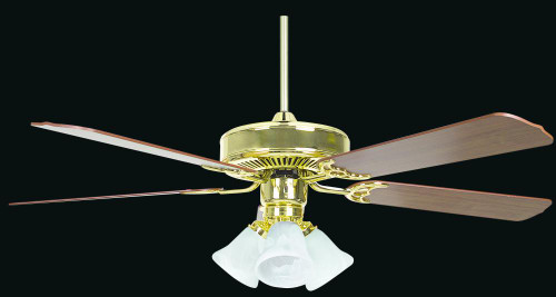 Heritage 52 Inch Gold Ceiling Fan-CF52836-10-L by Sunset Lighting