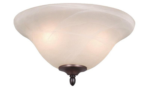 Fan Light Kit 13 Inch Multiple Finishes In Alabaster-LK34215-C by VaxcelLighting
