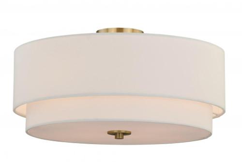 Burnaby 4 Light White Flushmount Ceiling Light-C0112 by Vaxcel Lighting
