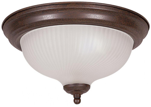 1 Light White Flushmount Ceiling Light-F7510-30 by Sunset Lighting