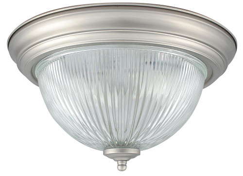 1 Light Brass Flushmount Ceiling Light-F7502-10 by Sunset Lighting