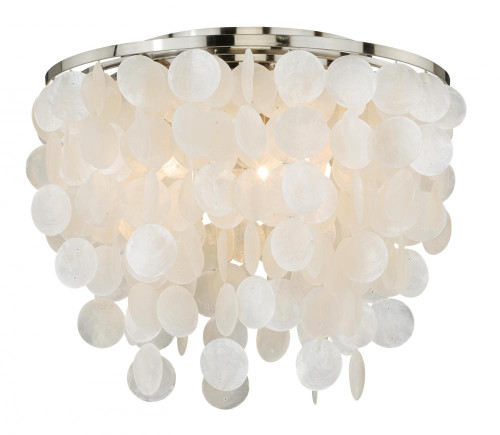 Elsa 3 Light Silver Flushmount Ceiling Light-C0079 by Vaxcel Lighting