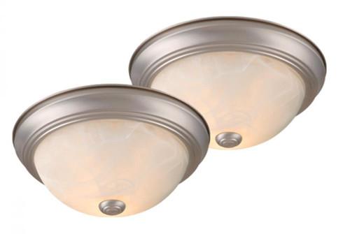 Builders Twin Packs 2 Light Alabaster Flushmount Ceiling Light-CC45313BN by Vaxcel Lighting