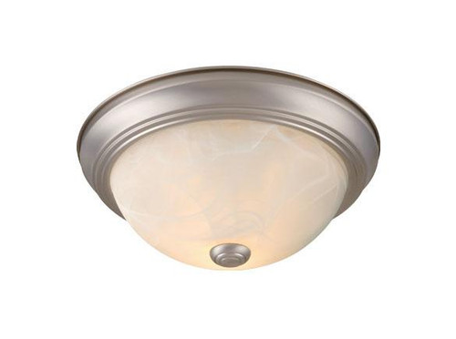 Builders Twin Packs 2 Light Alabaster Flushmount Ceiling Light-CC45311BN by Vaxcel Lighting