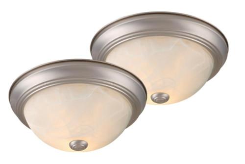 Builders Twin Packs 2 Light Alabaster Flushmount Ceiling Light-C0021 by Vaxcel Lighting
