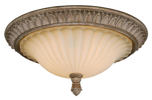 Avenant 3 Light Amber Flushmount Ceiling Light-C0081 by Vaxcel Lighting