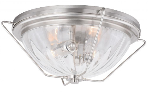 Bucktown 2 Light Clear Flushmount Ceiling Light-C0135 by Vaxcel Lighting