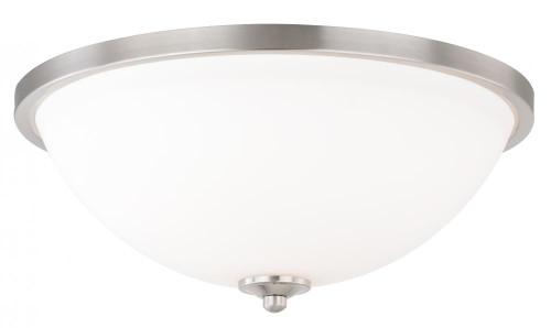 Mea 3 Light Alabaster Flushmount Ceiling Light-C0131 by Vaxcel Lighting
