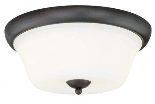 Poirot 2 Light Alabaster Flushmount Ceiling Light-C0064 by Vaxcel Lighting