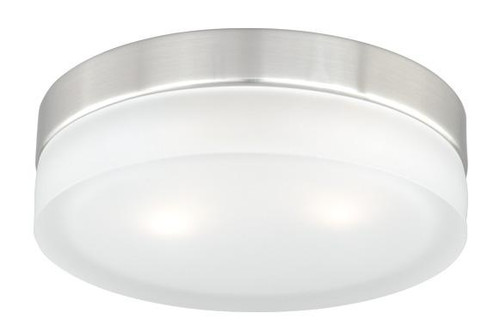 Loft 2 Light White Flushmount Ceiling Light-CC56809SN by Vaxcel Lighting