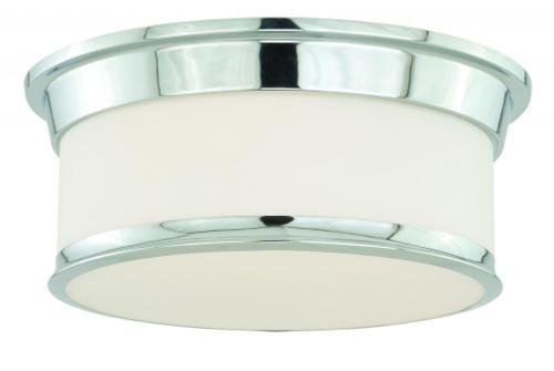 Carlisle 2 Light Opal Flushmount Ceiling Light-C0098 by Vaxcel Lighting