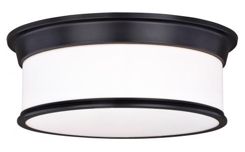 Carlisle 3 Light Opal Flushmount Ceiling Light-C0142 by Vaxcel Lighting