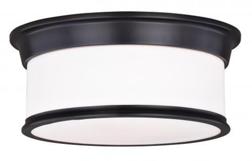 Carlisle 2 Light Opal Flushmount Ceiling Light-C0144 by Vaxcel Lighting