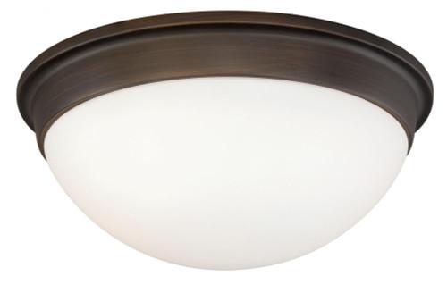 Sorin 2 Light Opal Flushmount Ceiling Light-C0108 by Vaxcel Lighting