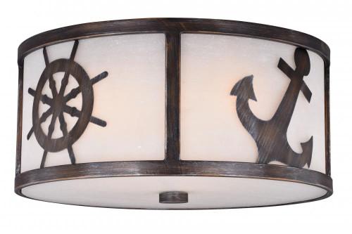 Nautique 3 Light White Flushmount Ceiling Light-C0138 by Vaxcel Lighting