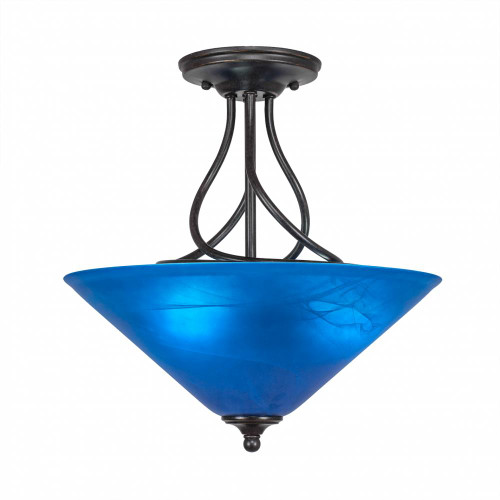 3 Light Blue Semi-Flushmount Ceiling Light-909-DG-415 by Toltec Lighting