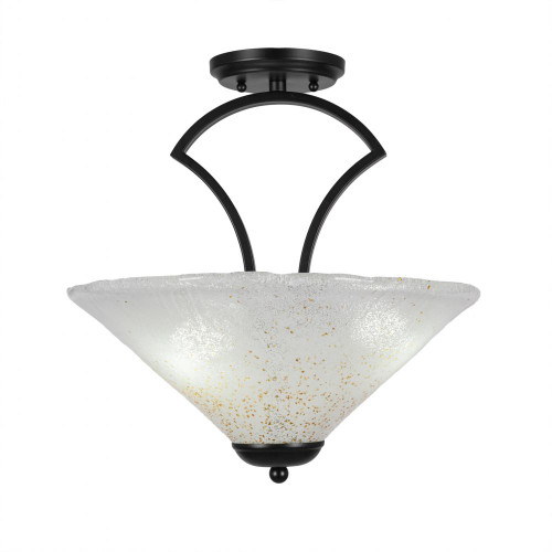 3 Light Gold Semi-Flushmount Ceiling Light-565-MB-714 by Toltec Lighting