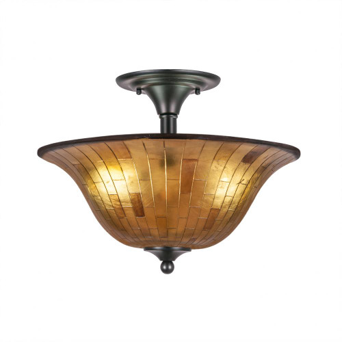 2 Light Tan Semi-Flushmount Ceiling Light-121-MB-708 by Toltec Lighting