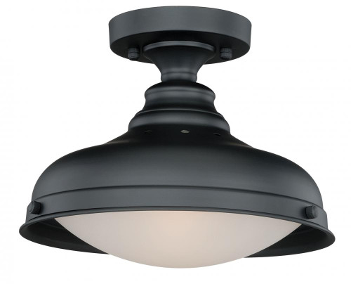Keenan 2 Light Silver Semi-Flushmount Ceiling Light-C0113 by Vaxcel Lighting