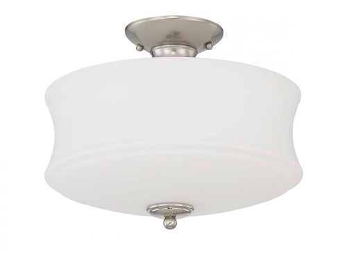 Amala 3 Light Silver Semi-Flushmount Ceiling Light-F20005-80 by Sunset Lighting