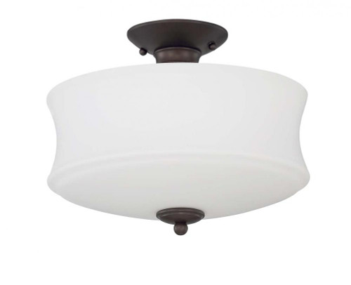 Amala 3 Light Black Semi-Flushmount Ceiling Light-F20005-64 by Sunset Lighting