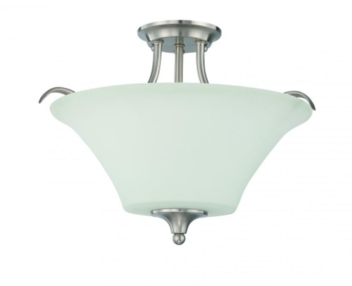 Darby 3 Light Gray Semi-Flushmount Ceiling Light-F18046-80 by Sunset Lighting