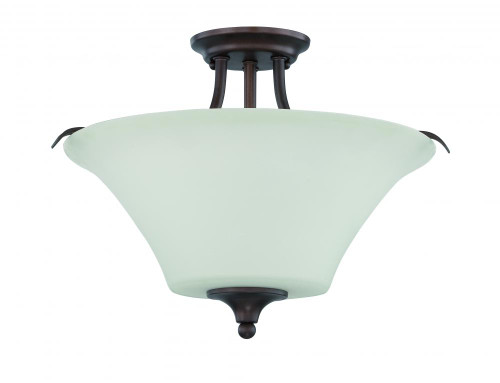 Darby 3 Light Black Semi-Flushmount Ceiling Light-F18046-64 by Sunset Lighting
