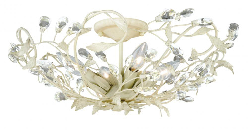 Jardin 4 Light White Semi-Flushmount Ceiling Light-C0024 by Vaxcel Lighting
