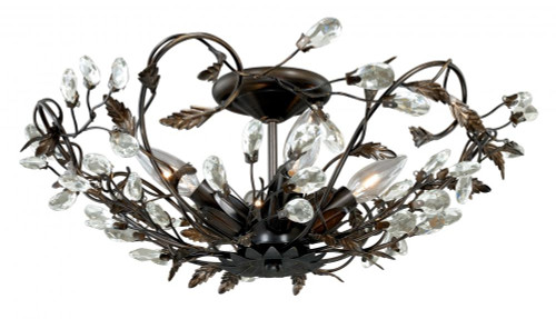 Jardin 4 Light Bronze Semi-Flushmount Ceiling Light-C0023 by Vaxcel Lighting