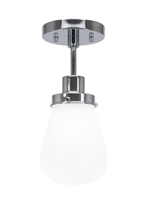 Meridian 1 Light Silver Semi-Flushmount Ceiling Light-1237-CH-470 by Toltec Lighting