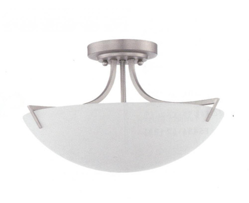 Milk 3 Light Gray Semi-Flushmount Ceiling Light-F9300-53 by Sunset Lighting