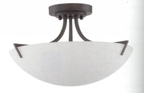 Milk 3 Light Brown Semi-Flushmount Ceiling Light-F9300-64 by Sunset Lighting