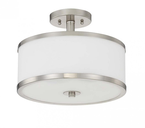Payton 3 Light Silver Semi-Flushmount Ceiling Light-F21008-80 by Sunset Lighting