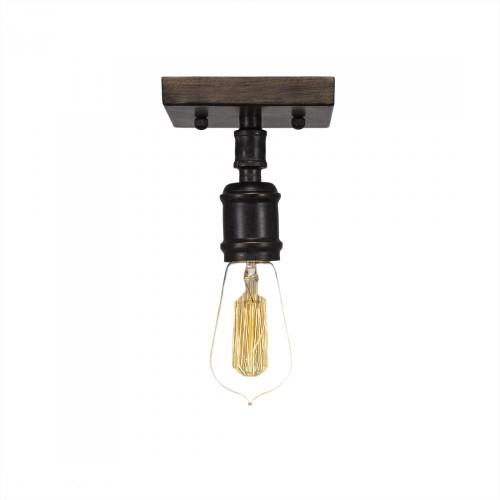 Portland 1 Light Black Semi-Flushmount Ceiling Light-1141-AT18 by Toltec Lighting