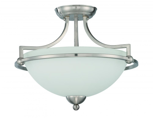 Preston 3 Light Silver Semi-Flushmount Ceiling Light-F16096-80 by Sunset Lighting