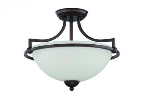 Preston 3 Light Black Semi-Flushmount Ceiling Light-F16096-64 by Sunset Lighting