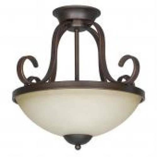 Provano 2 Light Brown Semi-Flushmount Ceiling Light-F5266-26 by Sunset Lighting