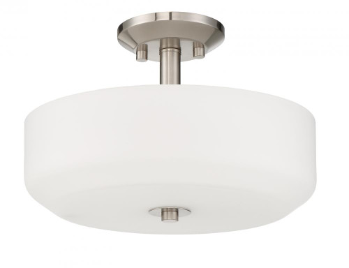 Quartz 3 Light Silver Semi-Flushmount Ceiling Light-F19036-80 by Sunset Lighting