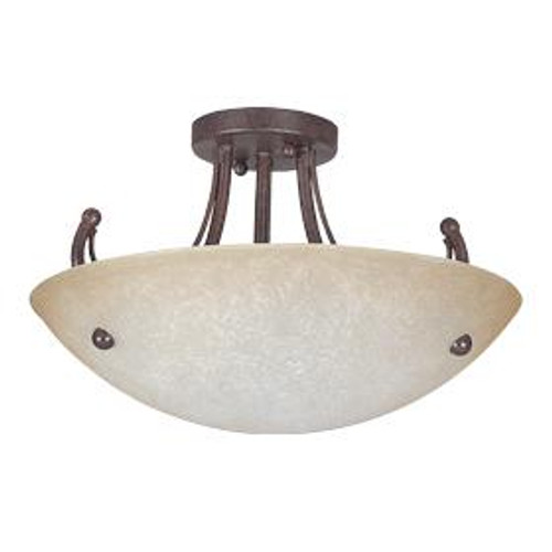 Tempest 3 Light Silver Semi-Flushmount Ceiling Light-F2473-53 by Sunset Lighting