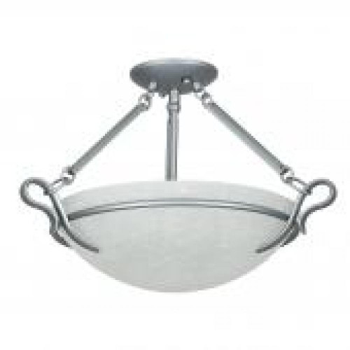 Venice 3 Light Silver Semi-Flushmount Ceiling Light-F5486-53 by Sunset Lighting