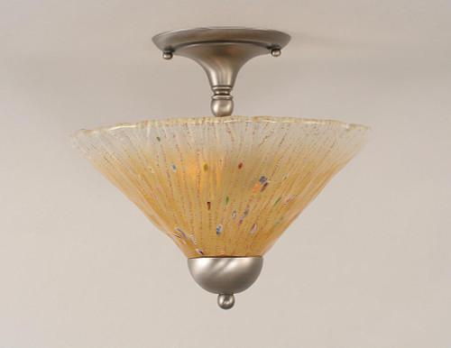 2 Light Amber Semi-Flushmount Ceiling Light-120-BN-700 by Toltec Lighting