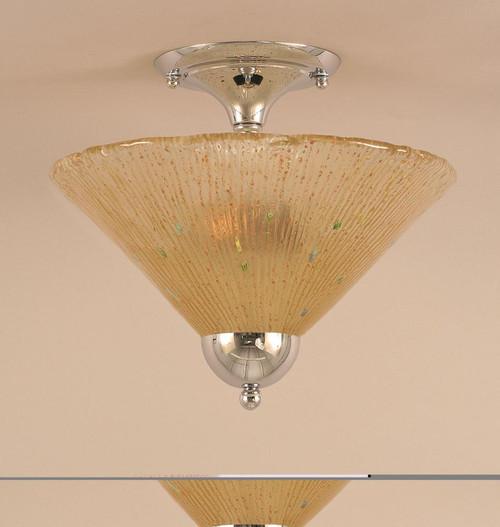 2 Light Amber Semi-Flushmount Ceiling Light-120-CH-700 by Toltec Lighting