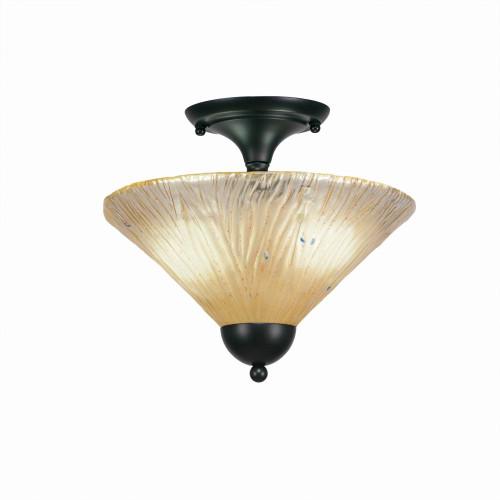 2 Light Amber Semi-Flushmount Ceiling Light-120-MB-700 by Toltec Lighting