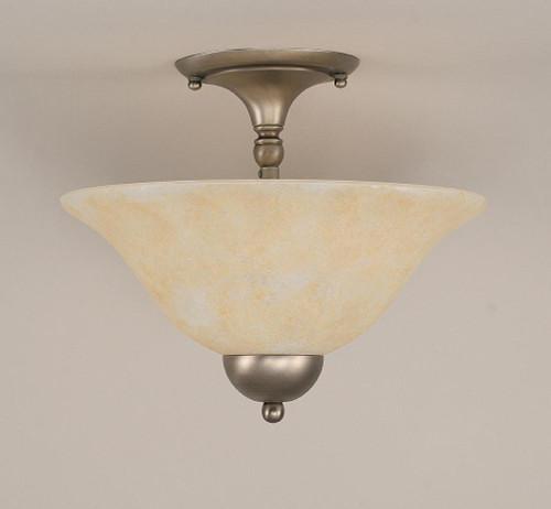 2 Light Amber Semi-Flushmount Ceiling Light-120-BN-523 by Toltec Lighting