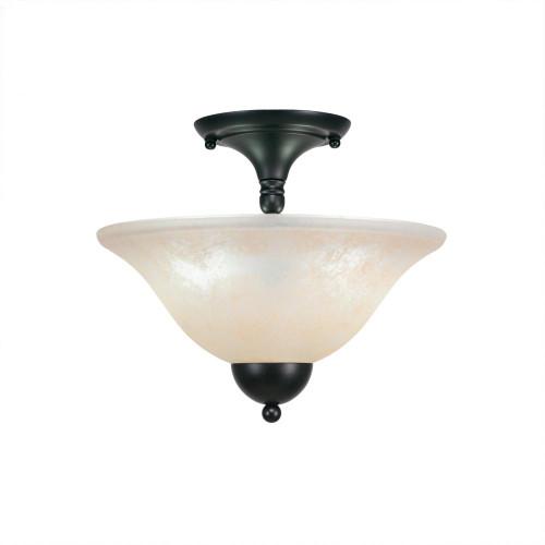 2 Light Amber Semi-Flushmount Ceiling Light-120-MB-523 by Toltec Lighting