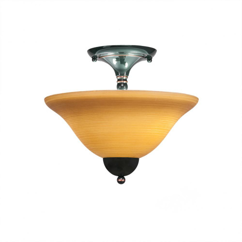 2 Light Tan Semi-Flushmount Ceiling Light-120-BC-624 by Toltec Lighting