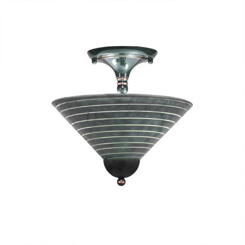 2 Light Rust Semi-Flushmount Ceiling Light-120-BC-442 by Toltec Lighting